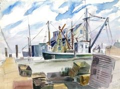 Hampton Bays, Watercolor by Eve Nethercott