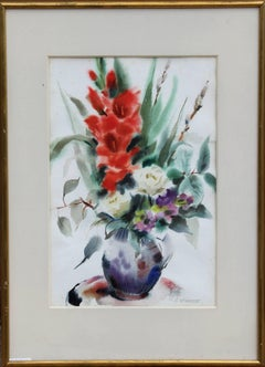 Bouquet of Flowers I, Watercolor by Eve Nethercott