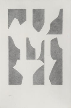 Three White Swans, 1976, Pencil Drawing by Lou Fink