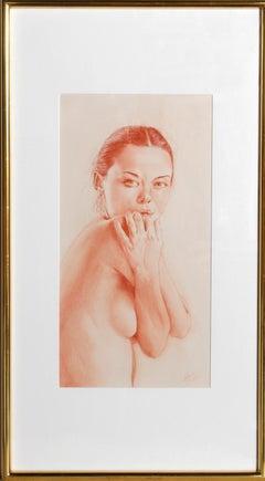 """Silvia"", Nude Drawing by Gianfranco Fusari"