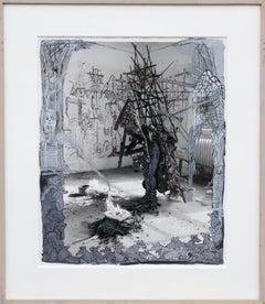 Black Figure, Mixed Media Painting by Kim Jones