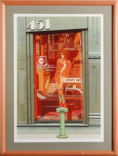 451 Store Window, Silkscreen by Tom Blackwell