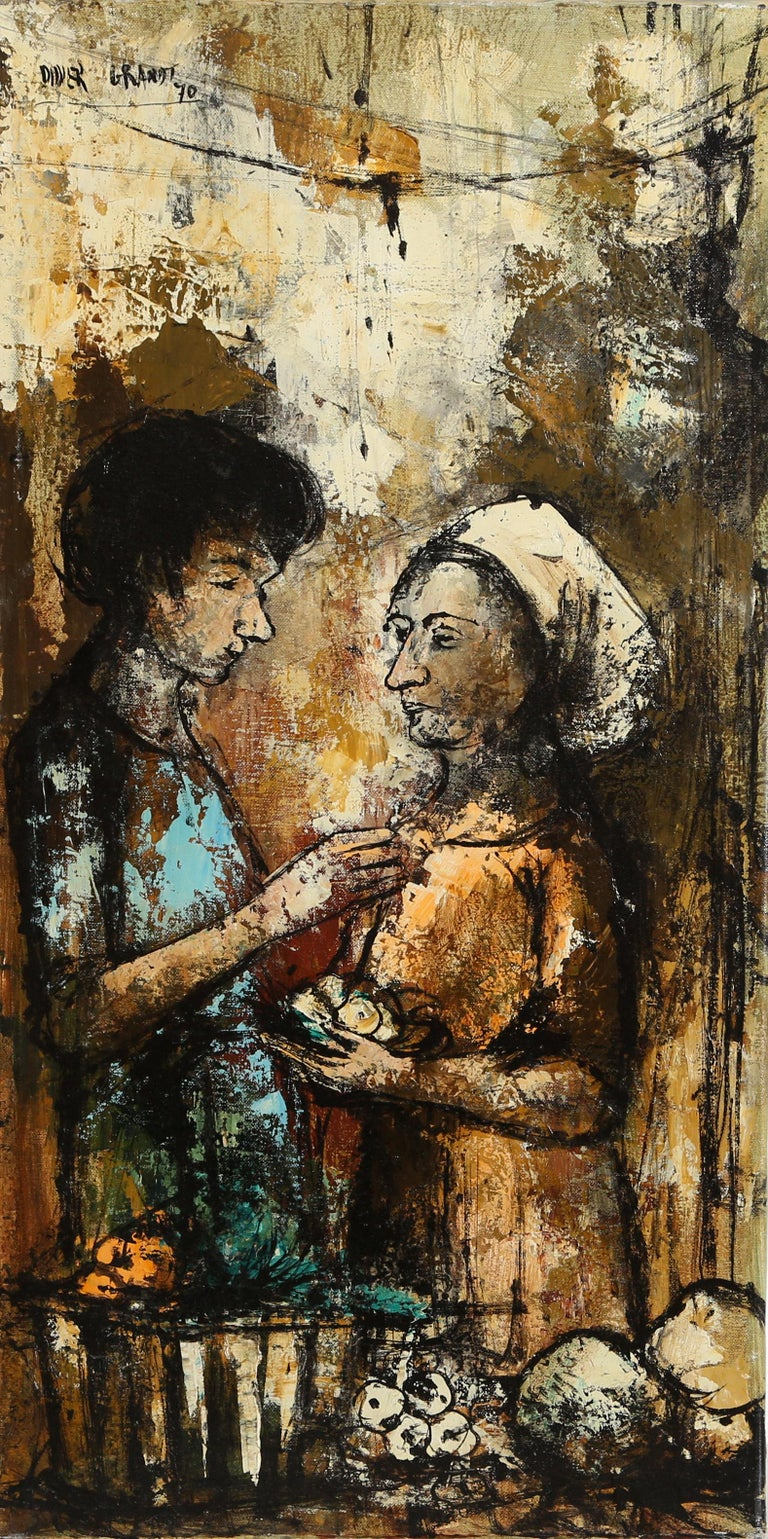 Didier Grandt Les Femmes De Marche Painting For Sale At
