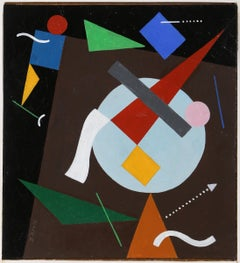 Geometric Figures (After Kandinsky), Oil Painting by Seymour Zayon