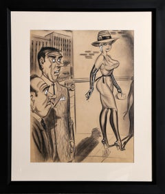 Gawkers, Original Illustration by Bill Ward