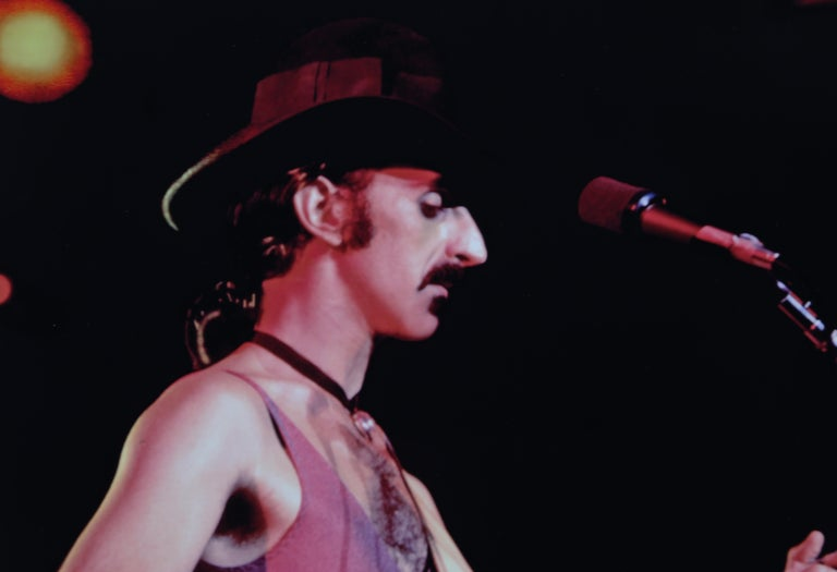 Frank Zappa on the Gibson SG - American Modern Photograph by Alan Herr