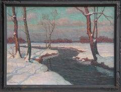 Snowy River Landscape, Oil Painting by Jean-Jacques Berne-Bellecour