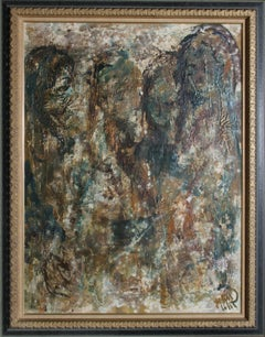 Four Abstract Figures, Oil Painting by John Uht