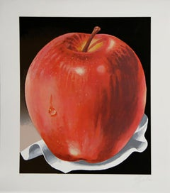 Red Apple, Realist Lithograph