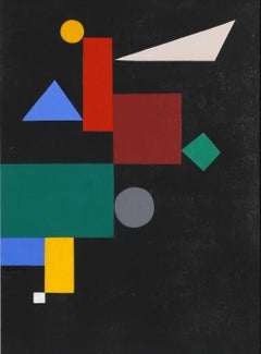 Geometric Stairs (After Kandinsky), Oil Painting by Seymour Zayon
