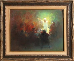Concert, Figurative Oil Painting by William Harnden