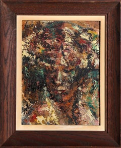 Portrait of A Woman, Abstract Oil Painting by John Uht