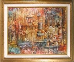 Kitchen, Interior Oil Painting