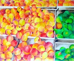 Peaches and Pears, Watercolor Painting by Richard Karwoski
