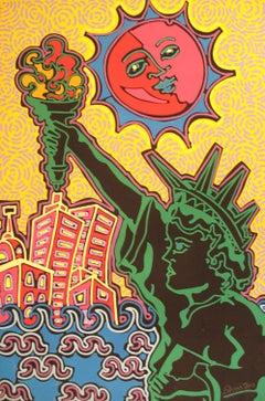 Statue of Liberty, Pop Art Serigraph by Kip Frace