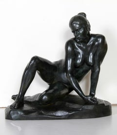 Seated Nude, Bronze Sculpture