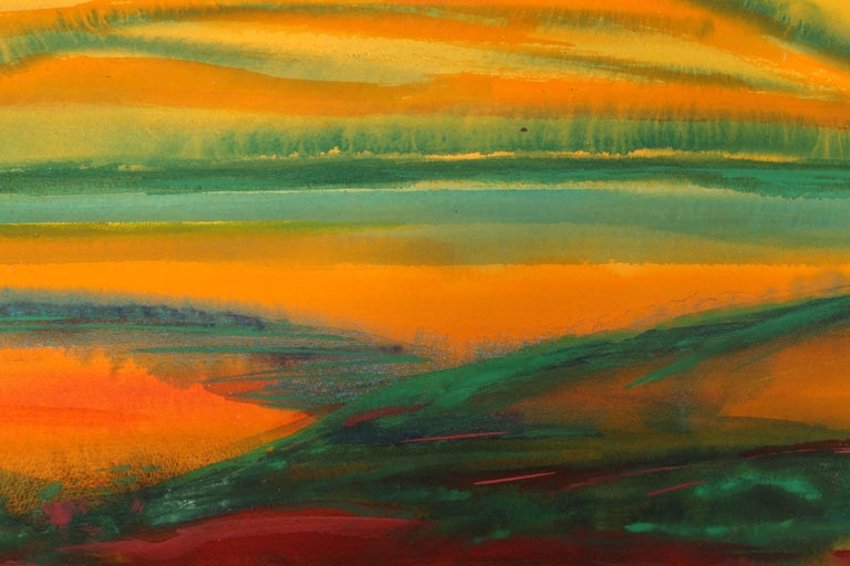 Abstract Landscape, Watercolor Painting by Joseph Grippi For Sale 1