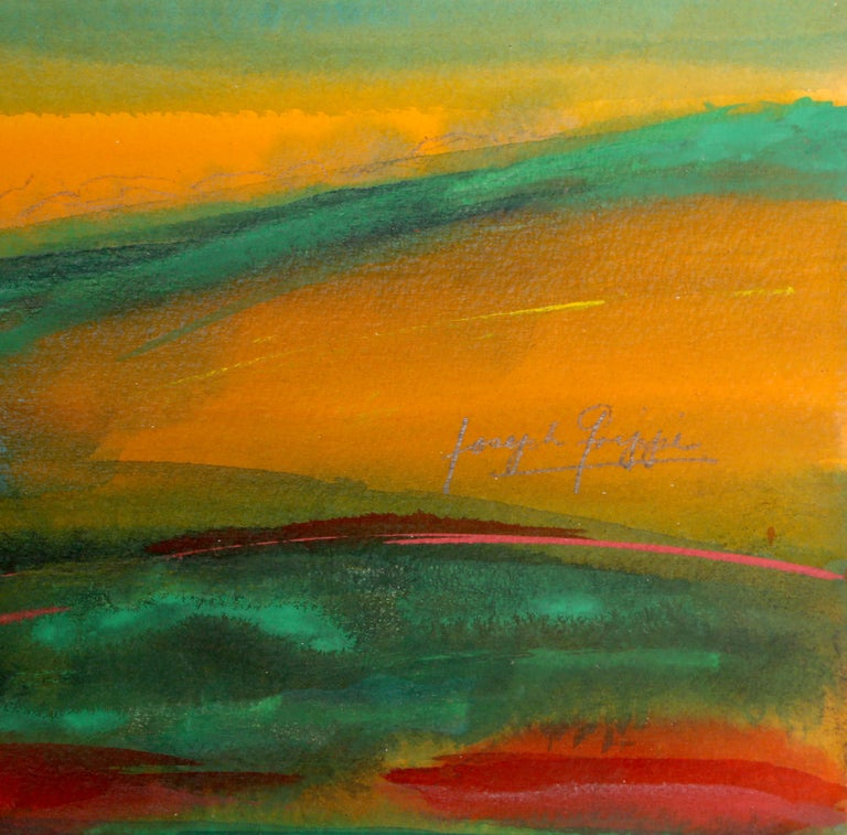 Abstract Landscape, Watercolor Painting by Joseph Grippi For Sale 2