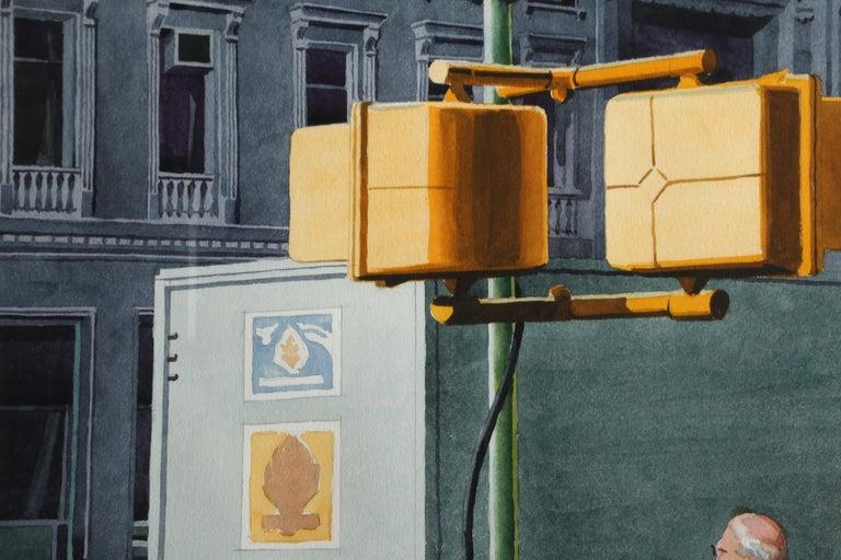 Crosswalk, New York City - American Realist Art by Don David