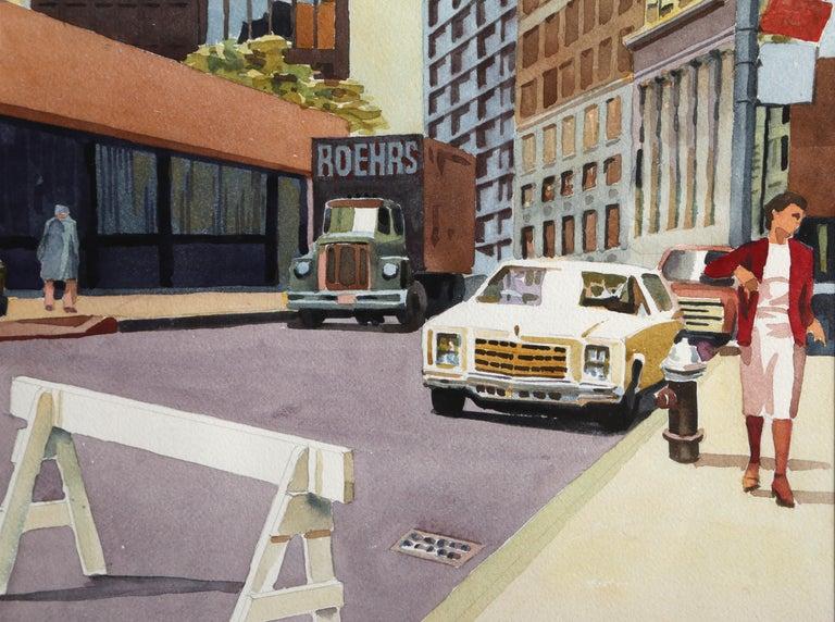 Police Line, New York City - Art by Don David