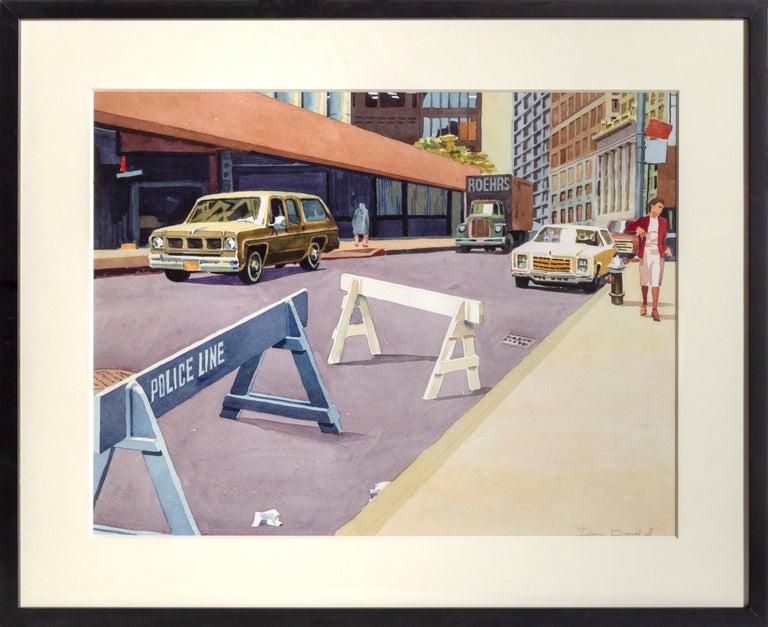 Don David Landscape Art - Police Line, New York City