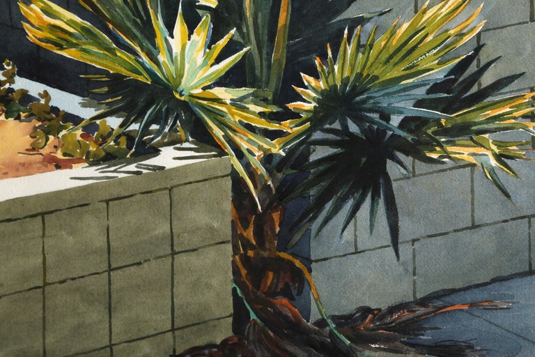 Palm Tree, New York City - American Realist Art by Don David