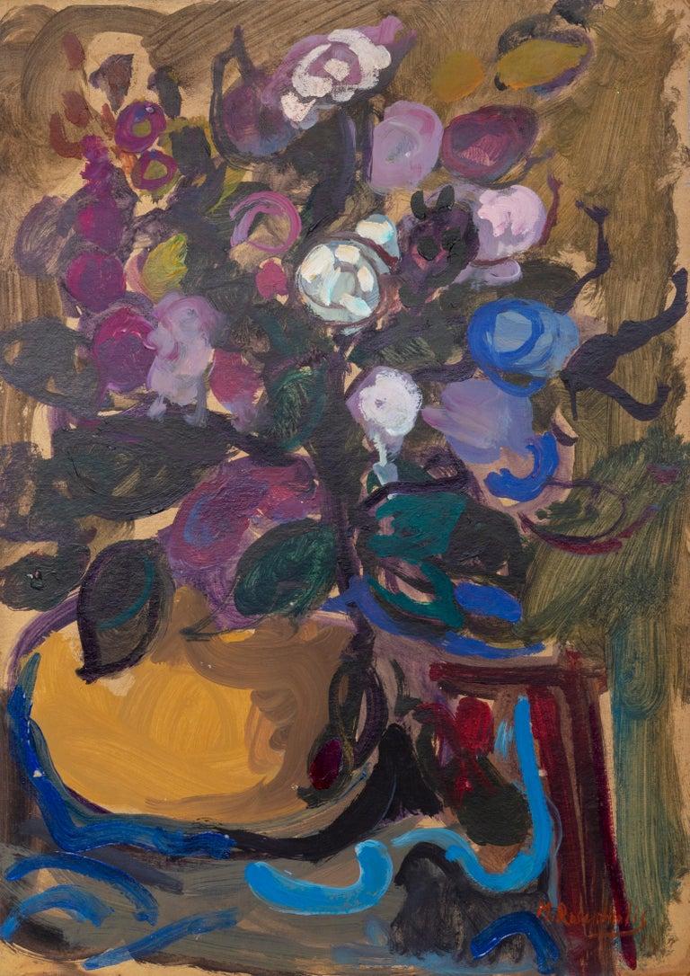 Moshe Rosenthalis Still-Life Painting - Flower Bouquet