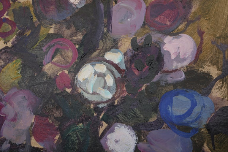 Flower Bouquet - Painting by Moshe Rosenthalis