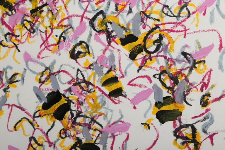 Bees - Abstract Expressionist Art by Louisa Chase