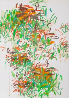 Tyger Tyger, Abstract Expressionist Drawing by Louisa Chase