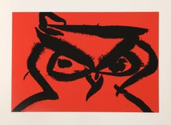Owl, Pop Art Silkscreen