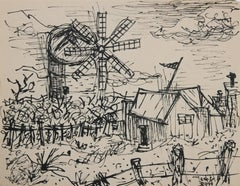 Farmhouse with Windmill