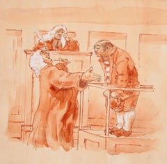 The Scapegoat II, Court Drawing by Marshall Goodman