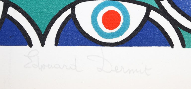 Flying Peacock II - Print by Édouard Dermit
