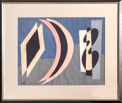 Trio, Modern Painting by Benjamin Benno 1960