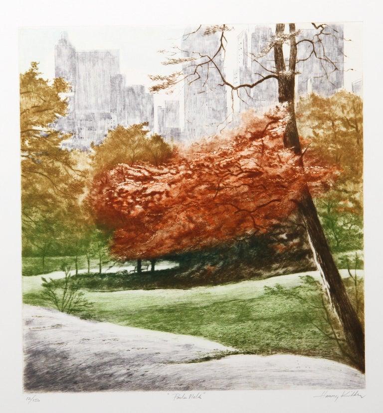 Harvey Kidder Landscape Print - Park Walk