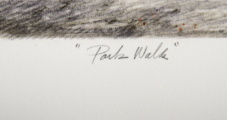 Park Walk - American Impressionist Print by Harvey Kidder