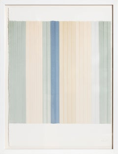 Untitled No. 11, Minimalist Stripe painting by Francisca Sutil