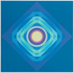 Oct021, Colorful OP Art Silkscreen by Ryo Tokita