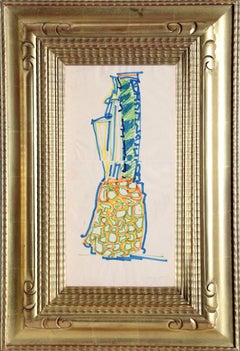 Blue Pineapple, Abstract Drawing by John Chamberlain