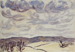 Western Landscape, Watercolor by Allen Tucker 1931