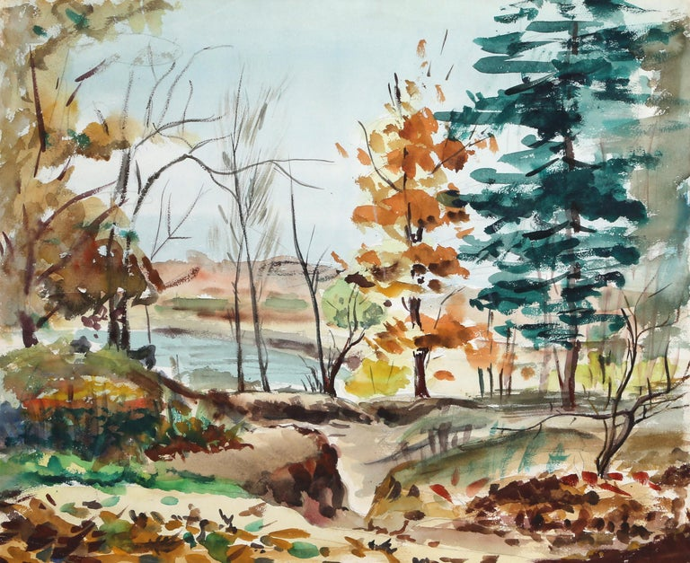 "Eve Nethercott, ""Fall"", New England Landscape - Art by Eve Nethercott"