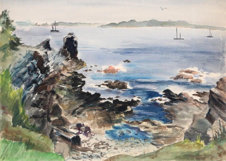 "Eve Nethercott, ""Cape Elizabeth"", New England Landscape - Art by Eve Nethercott"