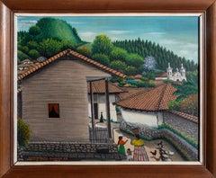 San Antonio de Oriente, Honduras, Painting by Jose Antonio Velasquez 1962