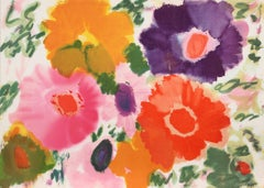 Flowers V, Lithograph by Helen Covensky