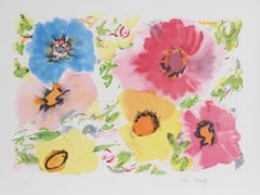 Flowers IV, Lithograph by Helen Covensky