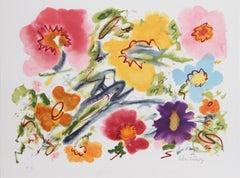 Sandra's Fantasy, Flower Lithograph by Helen Covensky