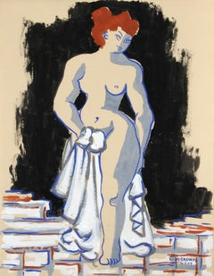 """Nude Study no. 50,"" Gouache on Paper, 1949"