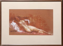 Reclining Nude, Pastel Drawing by Jan de Ruth
