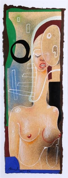 Cadaques No. 23, Surreal Nude Painting by Eduardo Arranz-Bravo